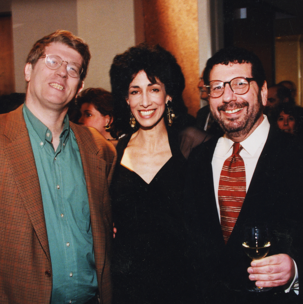 New York foodies, Ed Levine and Arthur Schwartz with Rozanne at Windows on the World.