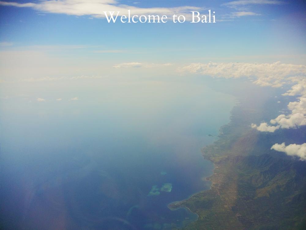 Flying high over Bali!