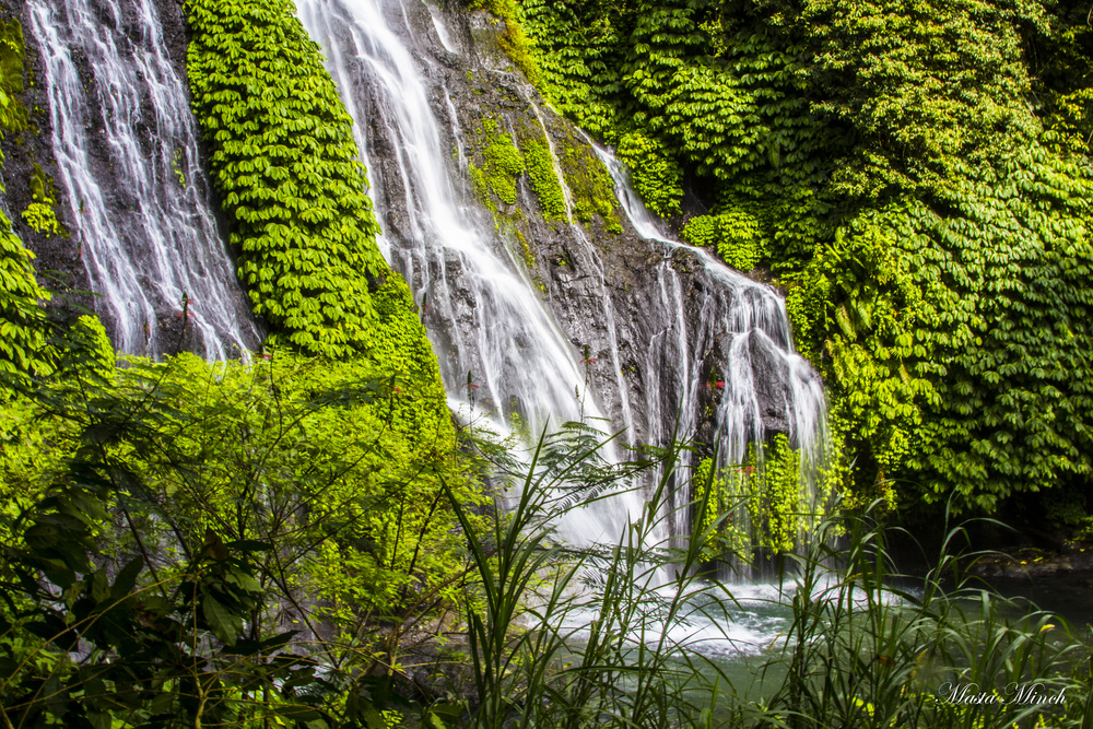 The first of the 7 waterfalls that majestically pops out from the forest.
