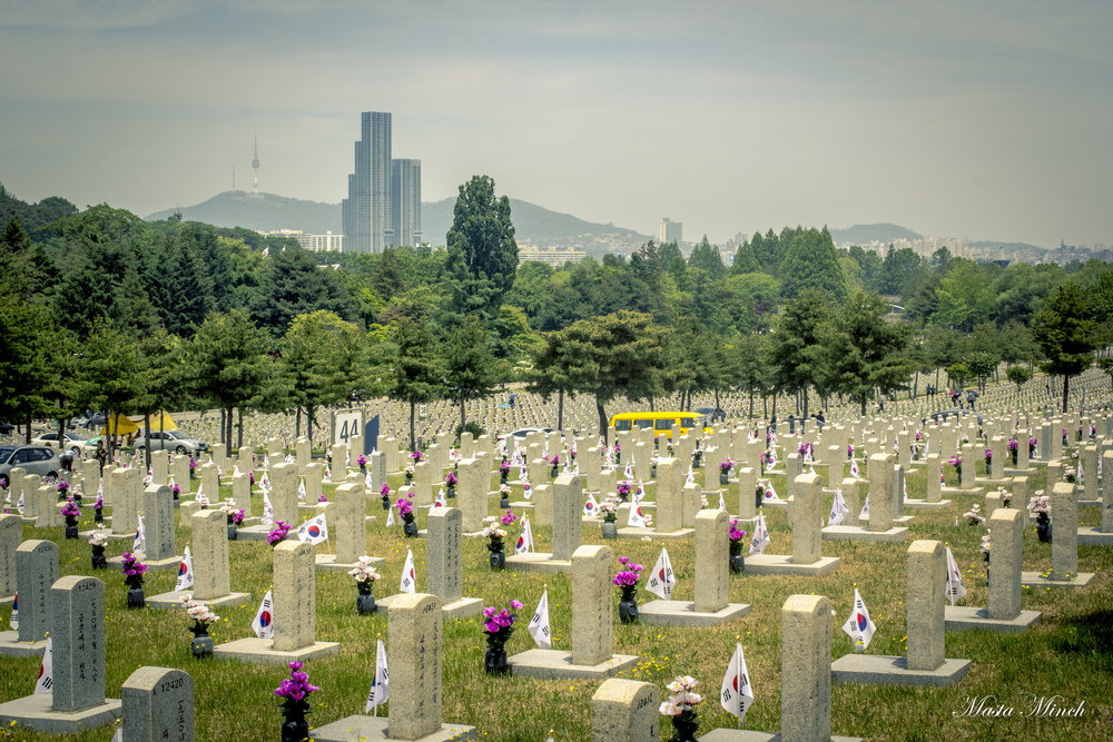 The Korean National Cemetery is incredibly large. It reminds me very much of the sites in Normandy, France and Arlington, Virginia.