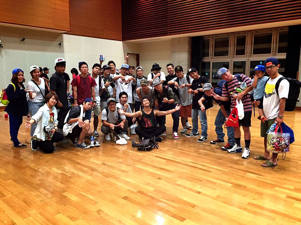 With the Okinawan bboy scene. Nothing but love!