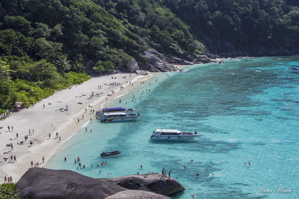 From the top of the viewpoint on the main Similan Island