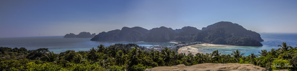 A panoramic view of Koh Phi Phi
