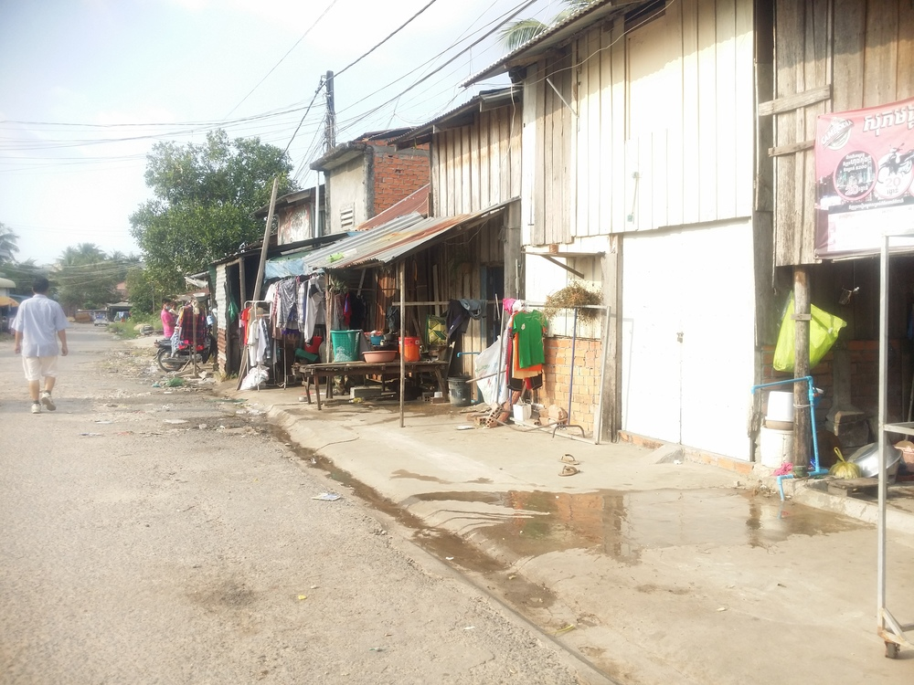 Literal shacks made of sheet metal make up a lot of homes and shops here.