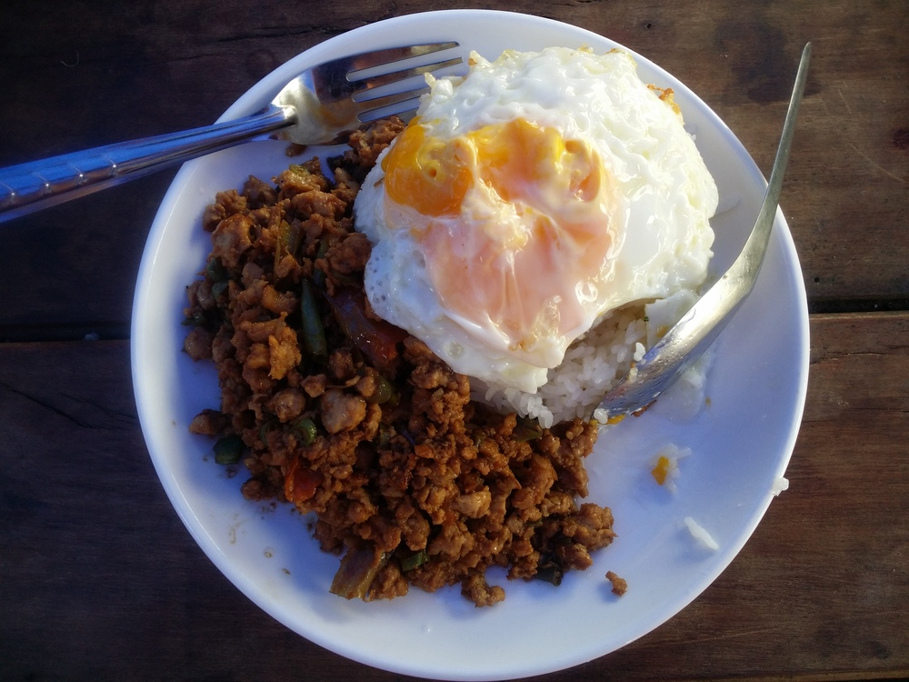 My #1 favorite meal I had in Laos. I don't know the name in English, but once I showed the picture they knew.