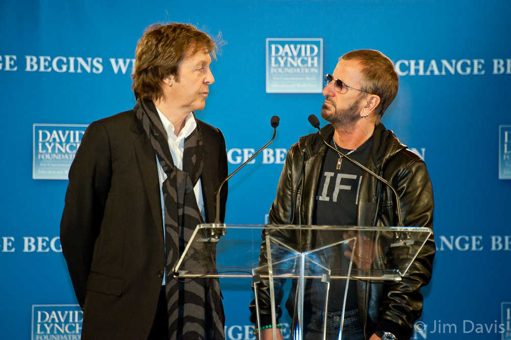 Paul McCartney and Ringo Starr, Change Begins Within, New York