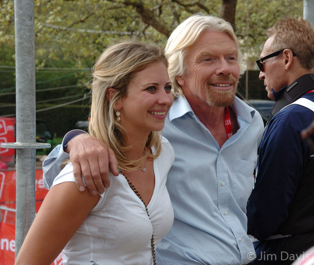 Sir Richard Branson with daughter Holly