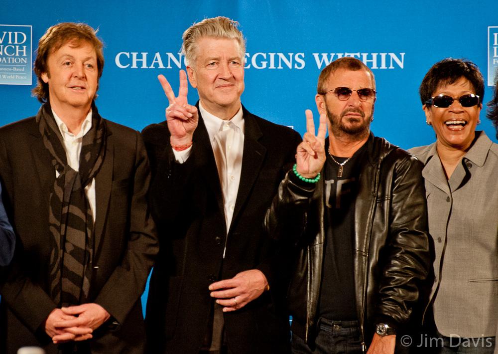 Paul McCartney, Ringo Starr and David Lynch