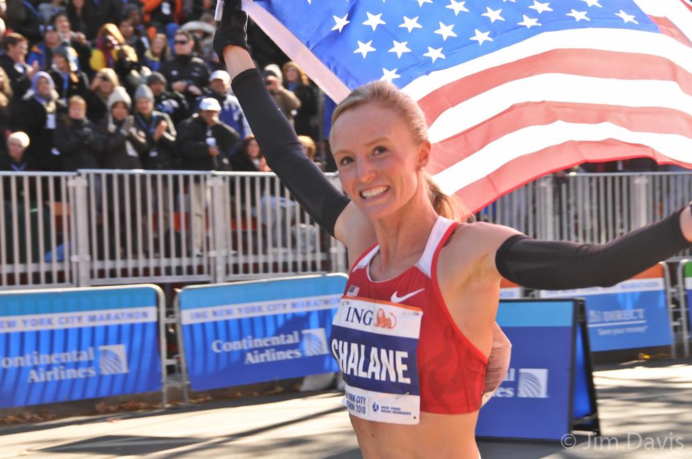Shalane Flanagan, NYC Marathon, 2010