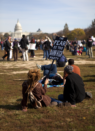 THE RALLY TO RESTORE SANITY AND/OR FEAR.  OCTOBER 30TH, 2010. WASHINGTON, DC.