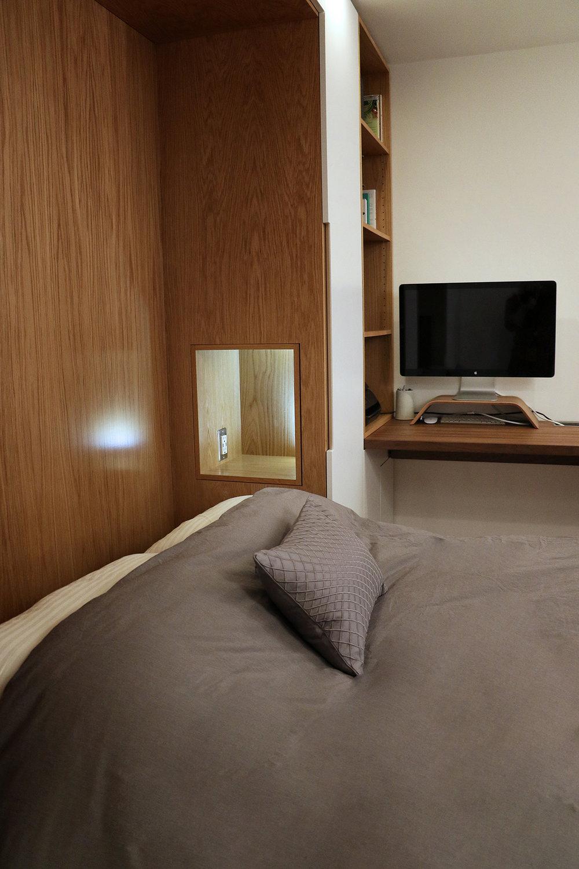 Murphy Bed & Desk design by  WISHBONE WOODWORKING