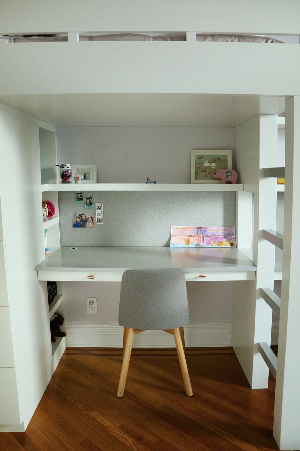 Bunk Bed & Desk design by  WISHBONE WOODWORKING