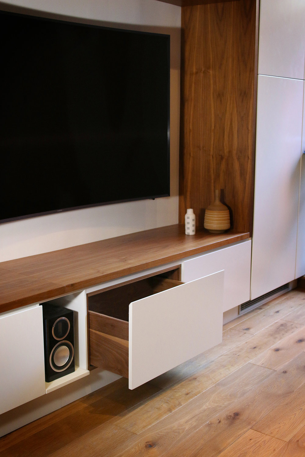 Media Cabinet design by  WISHBONE WOODWORKING