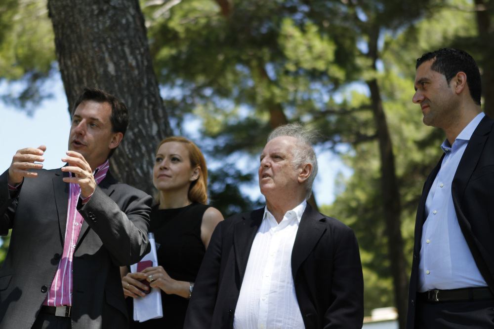 Felipe Aguirre con Daniel Barenboim