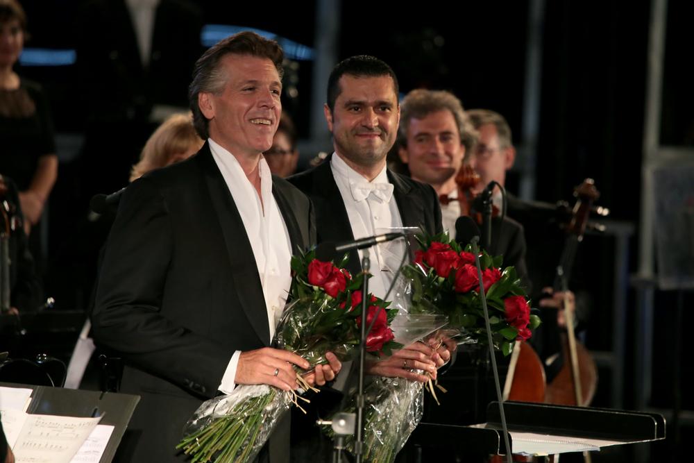 Felipe Aguirre con Thomas Hampson