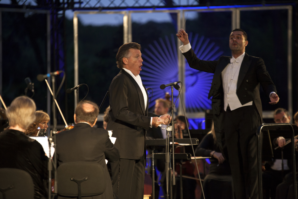 Felipe Aguirre con Thomas Hampson