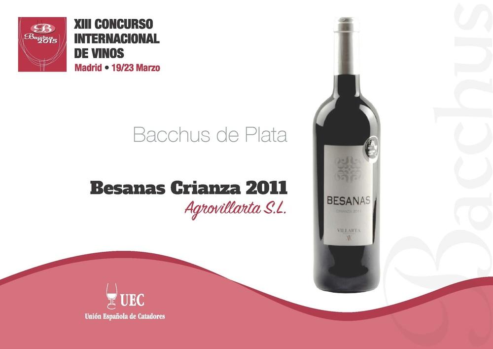 Diploma Bacchus plata 2015- Besanas Crianza 2011.jpg