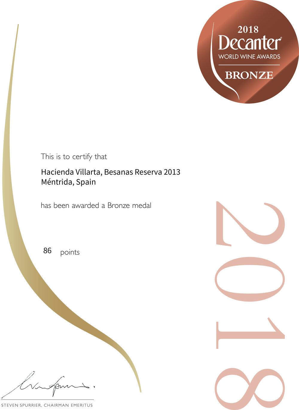 Certificate_BRONZE BESANAS RESERVA 2013_DWWA2018.jpg