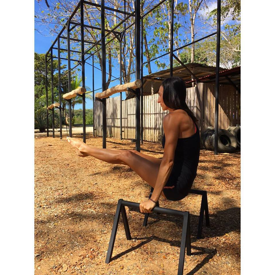 If you've never played with gymnastic parallettes - prepare to fall in love! Such a fun, versatile apparatus.