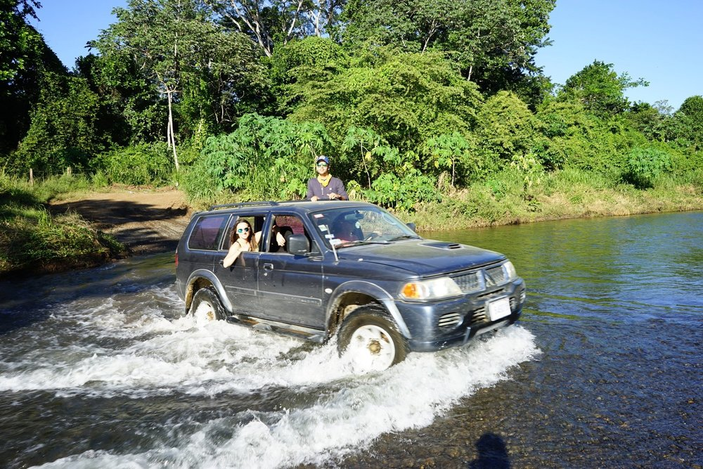 Rivers sometimes rise to levels that overrun the roads - how fun is that?!
