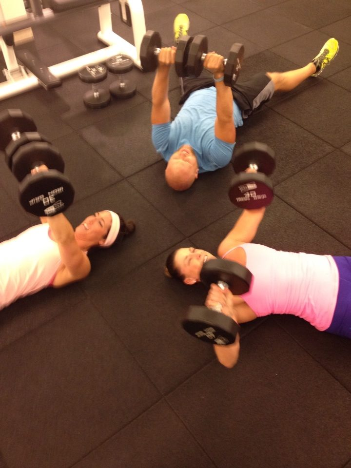 Floor press pals! I love Ashley & Kate!