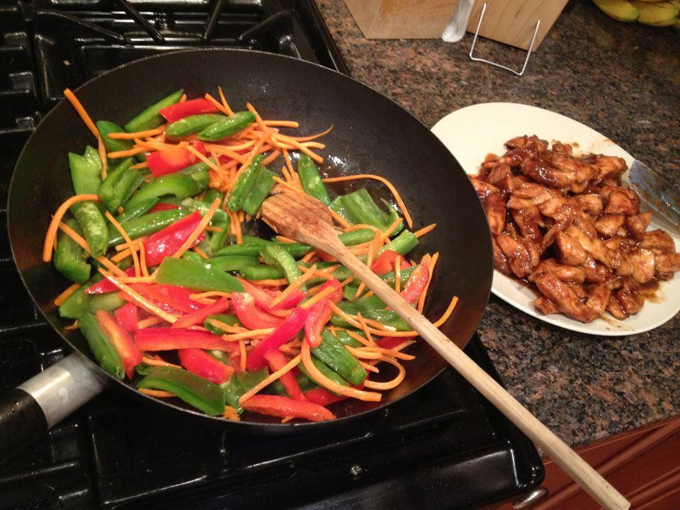 Chicken stir fry - yum!