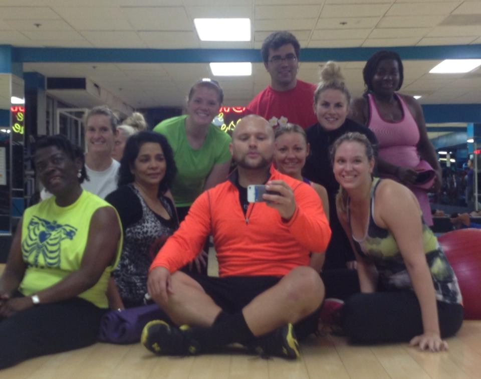 Group pic after bootcamp at Uptown Fitness!