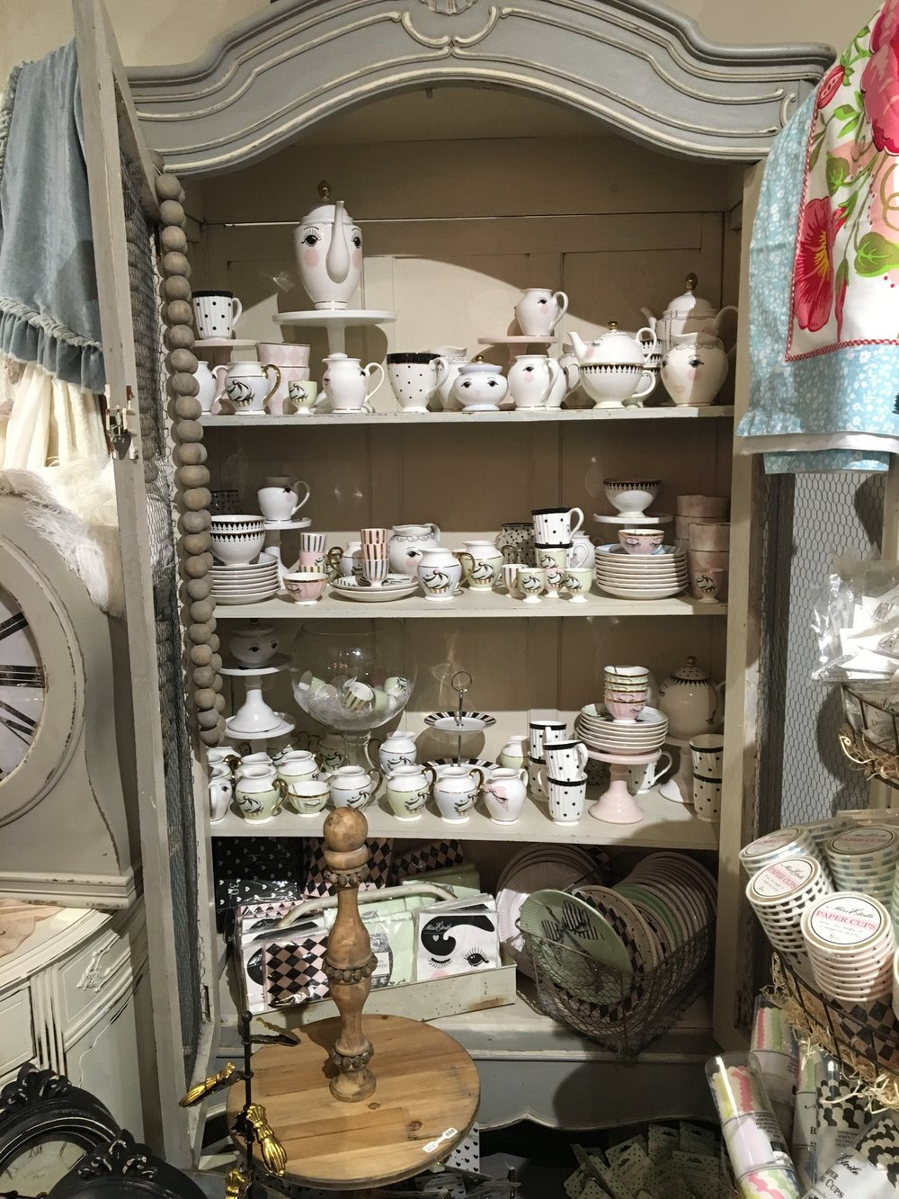 LOVE all these tea sets and platters