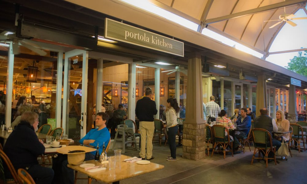 lovely outdoor seating - Portola Kitchen