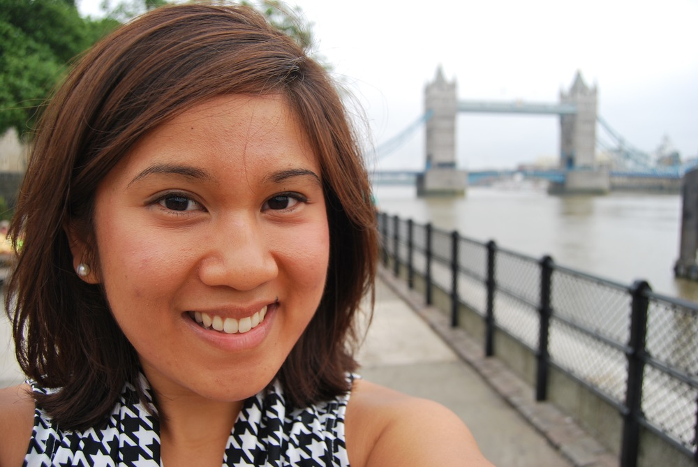 Chloe Lopez at the Tower Bridge in London, England.