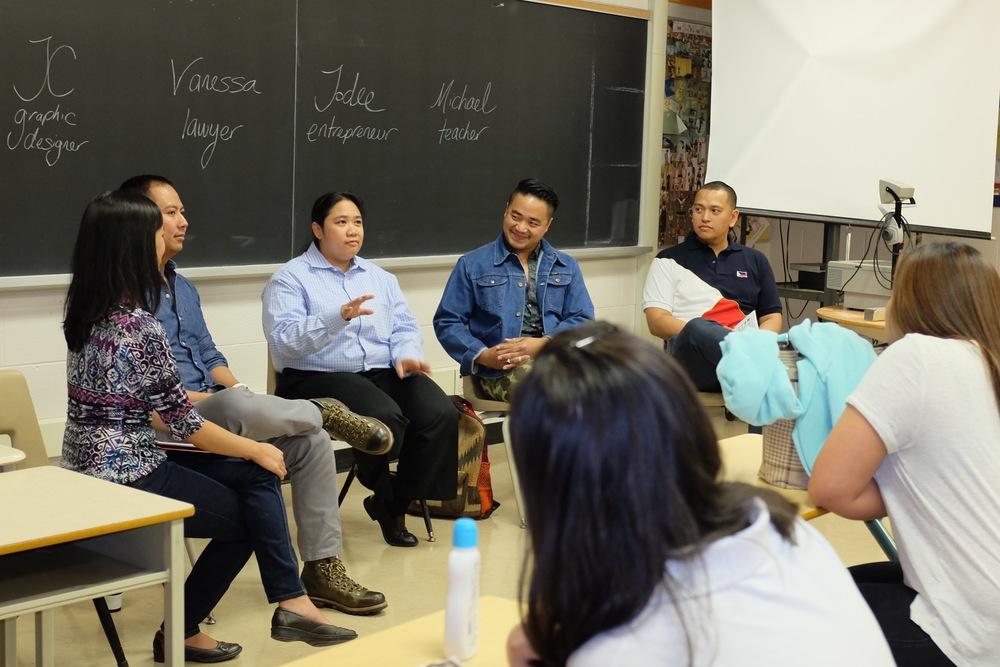 Vanessa Ibe emphasizing community involvement. Photo by Althea Balmes.
