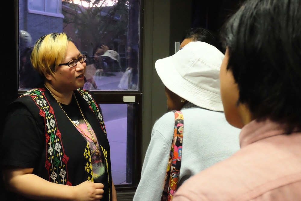 Alcampo greeting audience members. Photo:JC Bonifacio.