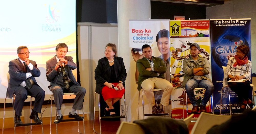 Jesson Reyes, second from right, on the Civic and Community Leadership panel. Photo by J Austria
