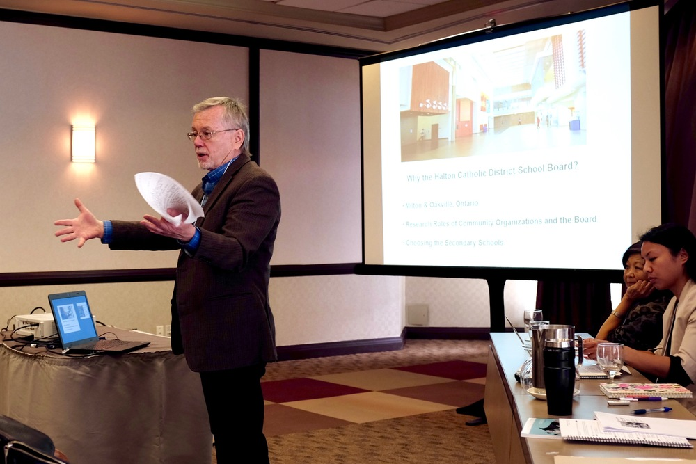 Don Wells of McMaster University introducing The HCDSB Pinoy Project. Photo by J. Austria