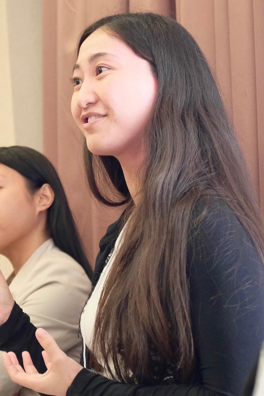 Graduate student Christa Sato of the University of Calgary. Photo by J. Austria