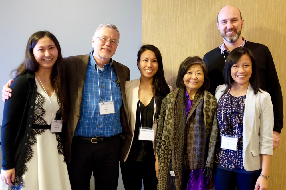 Presenters Christa Sato, Don Wells, Conely de Leon, Petronila Cleto, Philip Kelly and Jennilee Austria. Photo by Gina Csanyi-Robah