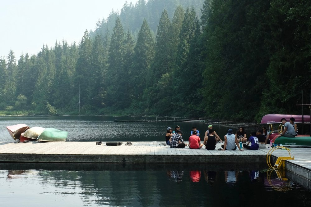 Mindfulness workshop by Jaisa Sulit on the shores of Loon Lake. Photo by JC Bonifacio.