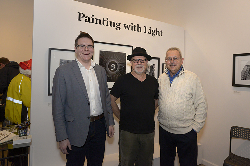 Participants in the Painting with Light exhibit, from left, Jonathan Fearer, Bernard Uhl and Don Conrard.