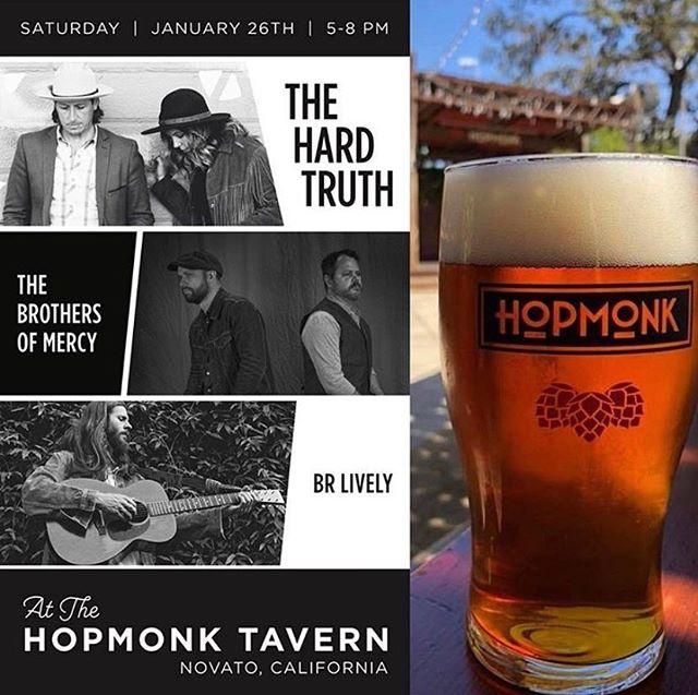 Kicking off our California shows tonight with our friends @brothersofmercymusic and @brlively  Thursday 1/24 - 6pm Los Gatos Coffee Roasting Company - Los Gatos  Friday 1/25 - 11am KXSF Radio San Francisco  Saturday 1/26 - 12:30pm Caymus Vinyards - Napa  Saturday 1/26 - 5-8pm Hopmonk Tavern - Novato  Sunday 1/27 - 3-5pm Hope Family Vinyards - Paso Robles  Monday 1/28 - 9am Krush Radio - San Luis Obispo