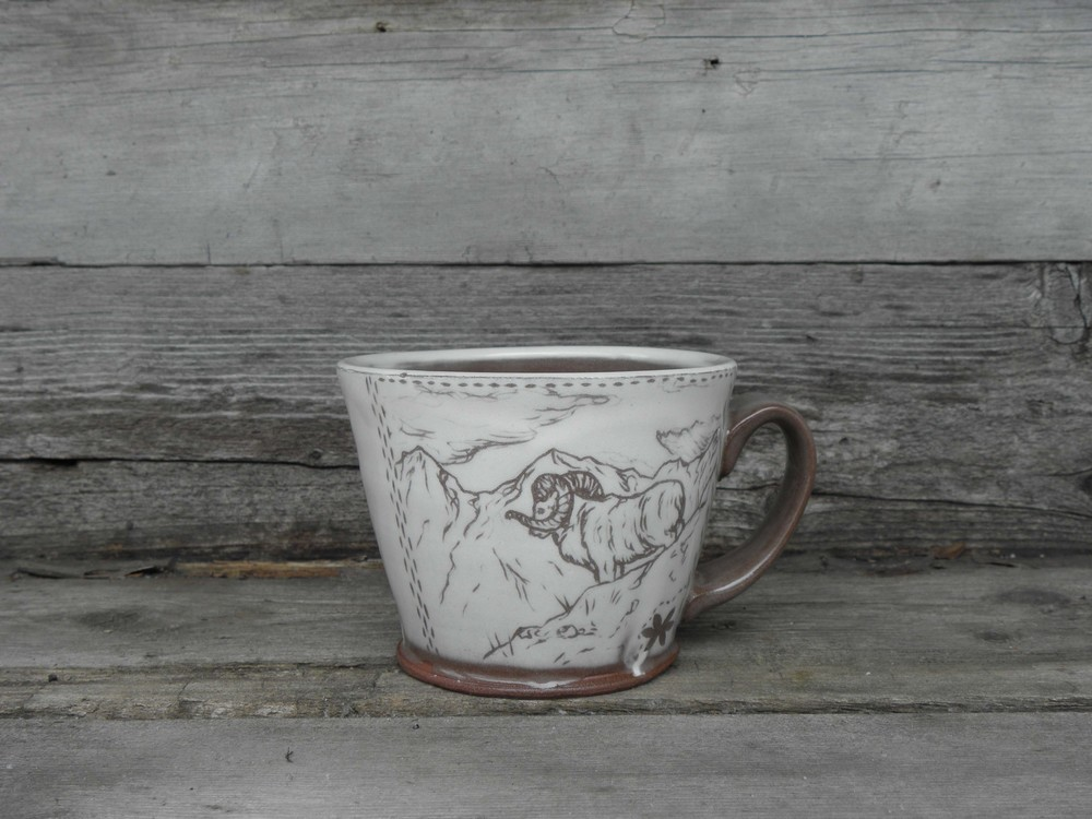 Dall Sheep Mug, Side Two