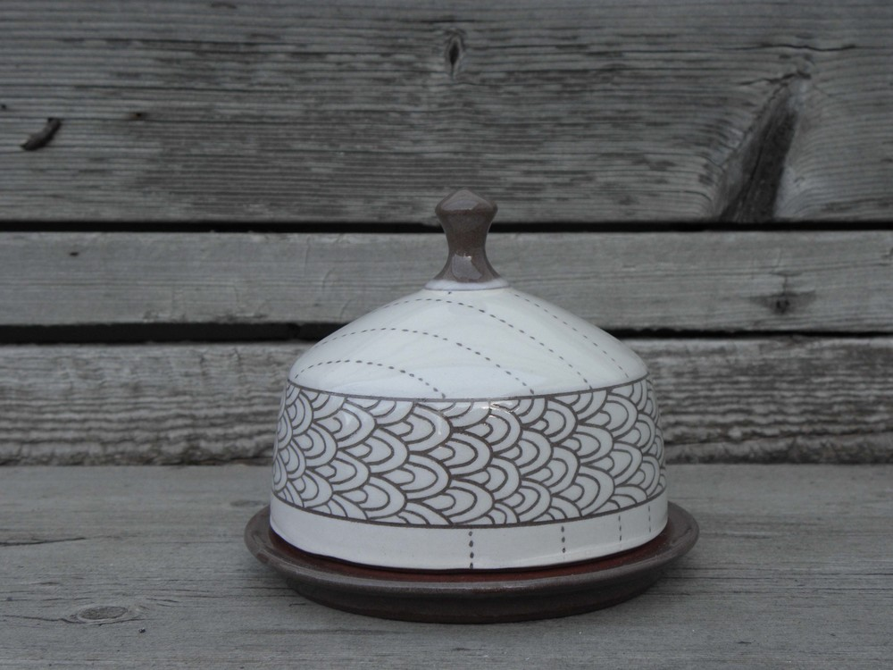 Embroidery Butter Dish