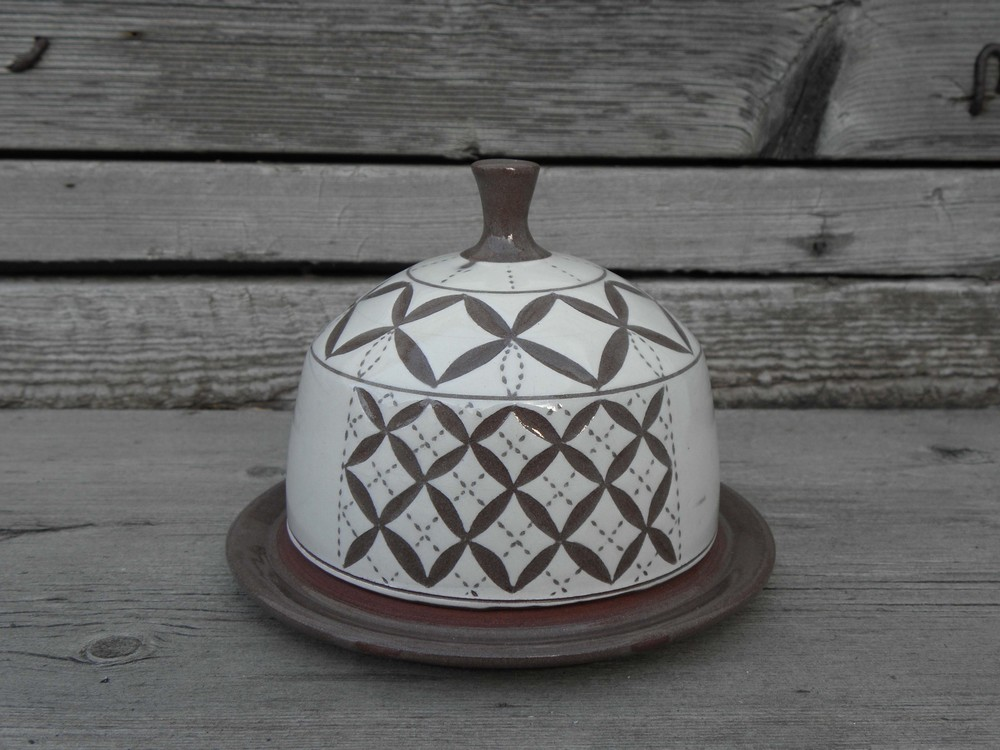 Lace Butter Dish, side two