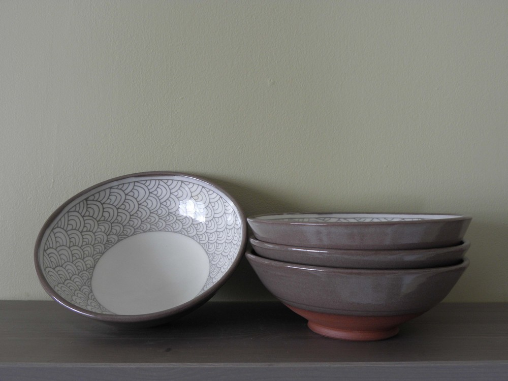 Pattern Banding Bowls, indoors