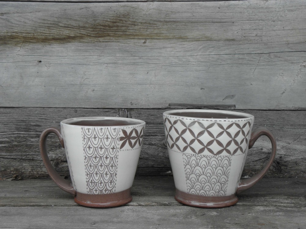 Pattern Swatch Mug Pair