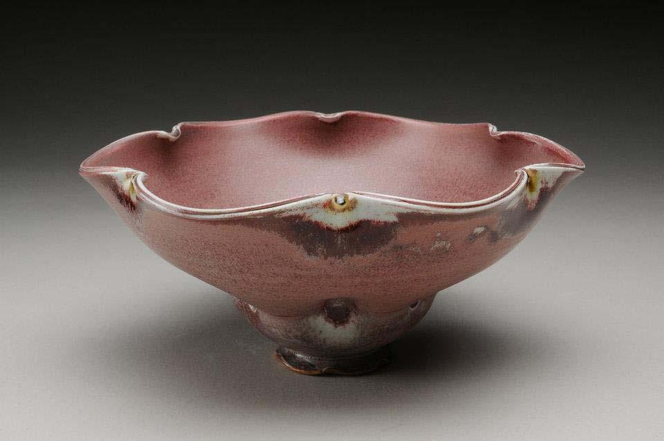 Maroon Petal Bowl