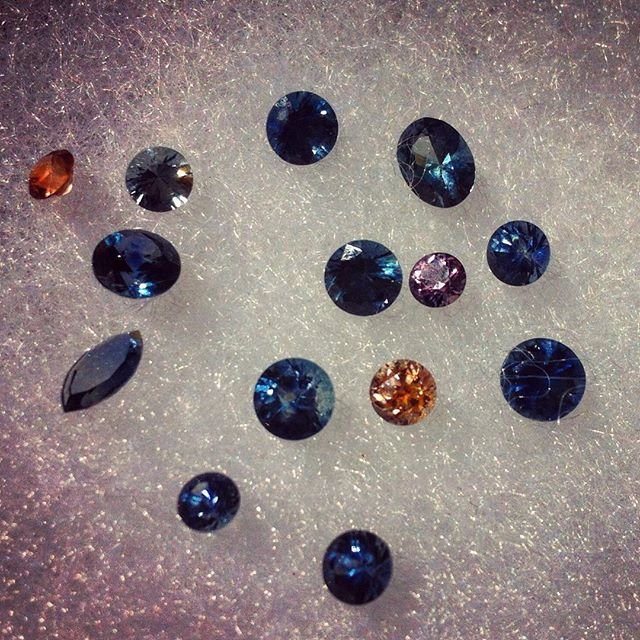 Some treasures from the treasure state...Montana sapphires :)