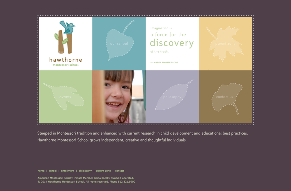 Hawthorne Montessori School Website Design | DesignCode | Austin, Texas
