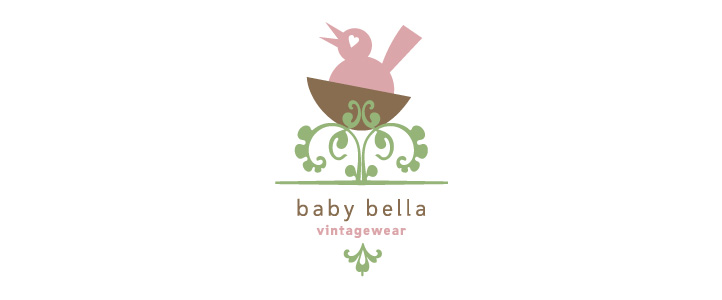 Baby Bella Vintagewear Logo Design| DesignCode | Austin, Texas