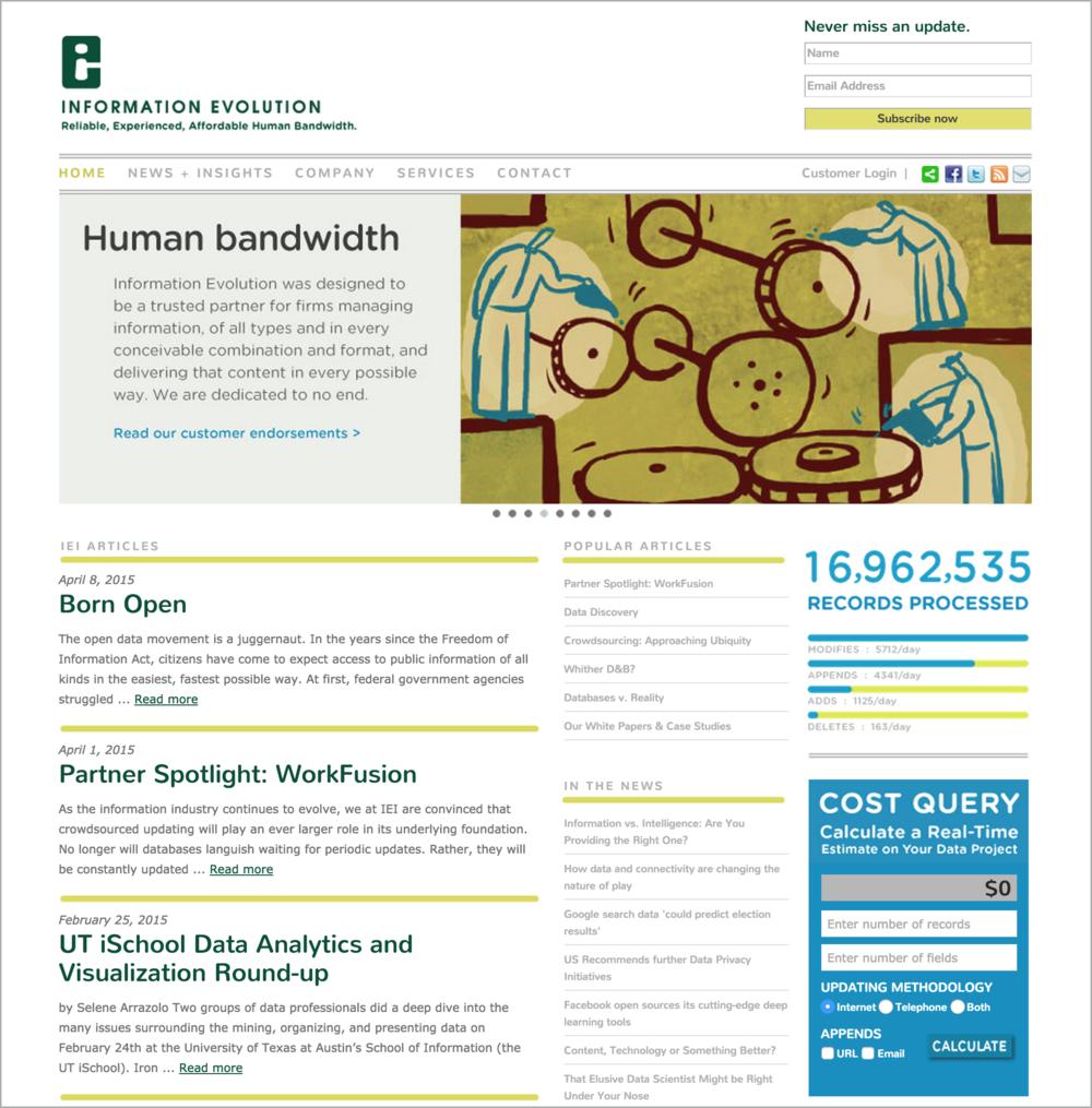 Information Evolution Website Design| DesignCode | Austin, Texas
