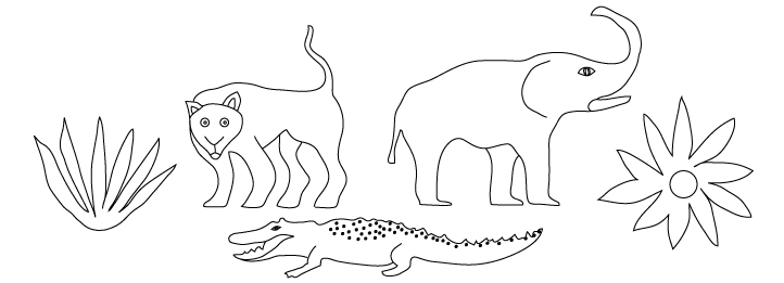 Illustration Design of cheetah, elephant and alligator for children's book design | DesignCode | Austin, Texas